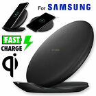 Qi Wireless Fast Charger Stand Pad 2 Coils Fan For Samsung Galaxy S8 /S8 Plus BK