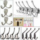 4/5/10 Hooks Metal Chrome Double Hat Coat Clothes Door Hook Holder Wall Hangers