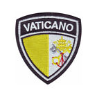 VATICAN FLAG CREST EMBROIDERED PATCH