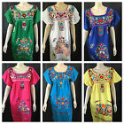 Kyпить ANY COLOR PEASANT VINTAGE TUNIC EMBROIDERED MEXICAN DRESS S M L XL XXL PLUS SIZE на еВаy.соm