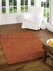 MARLOWE DUSK BOMBAY BROWN RUST TERRACOTTA THICK CHUNKY SOFT 100% WOOL PETAL RUG