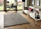 SMALL - EXTRA LARGE SILVER GREY THICK PILE PLAIN MODERN NON-SHED SOFT SHAGGY RUG