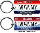 Personalized Idaho State License Plate Replica keychain