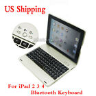 US Slim Bluetooth Keyboard with Aluminum Case Cover For Apple iPad 2 3 4 Tablet