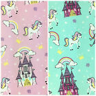 Unicorn Fabric, available in Pink OR Blue, 100% Cotton Fabric, Per Half Metre
