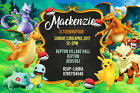 Personalised Pokemon Pokeball Birthday Party Invites inc Envelopes P3