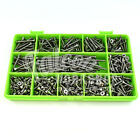 460 ASSORTED A4 STAINLESS 6g 3mm POZI CSK WOOD SCREWS SCREW DIY COUNTERSUNK KIT