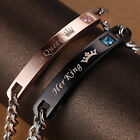 """His And Her """"Her King His Queen"""" Alloy Fashion Couple Lover Bracelet Women' JEW"""