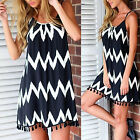 Women's Fashion Selling Summer Loose Wavy Fringed Sleeveless Black Floral Dress