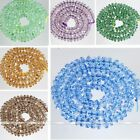 "3*6mm 12.5"" Multicolor Crystal Glass Faceted Rondelle Loose Bead Fashion Finding"