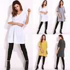 2017 Fashion Womens V Neck 1/2 Sleeve Casual Loose Tops T Shirt Short Mini Dress