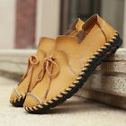 Mens Sewing Fringes Casual Loafers Retro Flats Slip On Shoes Black Yellow Brown