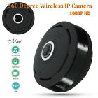 360 Degree Mini Wireless 1080P HD Fisheye IP Camera 2 Way Audio WiFi Panoramic W