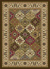 Multi-Color Traditional Oriental Border Panel Area Rug Patchwork Persian Carpet