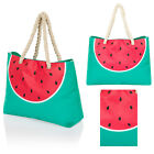 South Beach Womens Designer Watermelon Beach Bag New Ladies Canvas Tote Handbag