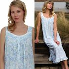NWT $62 EILEEN WEST NIGHTGOWN SMALL & MEDIUM & X-LARGE BLUE FLORAL BALLET COTTON