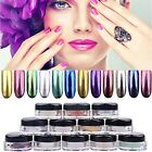 12Colors Chameleon Mirror Chrome Effect Nail Art Powder Manicure Pigment Glitter