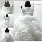 Off White Christening Communion Wedding Party Flower Girls Dresses SIZE 2T 4T 6T
