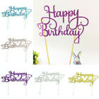 Hot Sale Shining Happy Birthday Party Supplies DIY Decoration Cake Topper Decor