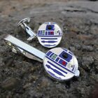 Star Wars R2D2 Gentleman Jewelry Cufflinks Cuff Links Wedding Silver Tie Charm $4.99 USD on eBay