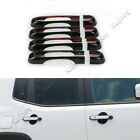 8PCS Black ABS Door Handle Covers Frame Guard Trim For Jeep Renegade 2015 2016
