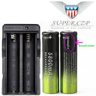 14X 3.7v 18650 Battery Battery Rechargeable Li-ion For Flashlight+ Charger 6