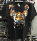 Tiger Bracelet T-Shirt Glow In The Dark Shortsleeve Black Glow In The Dark Biker