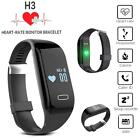 Durable Fitness Pedometer Heart Rate Monitor Smart  Wristband Watch Waterproof D