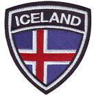 ICELAND FLAG CREST EMBROIDERED PATCH