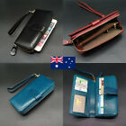 16 Card Inserts Soft Genuine Leather Ladies Womens Trifold Wallet Purse