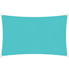 Turquoise Sun Shade Sail Permeable Canopy Lawn Patio Pool Awning With/6'' Kit