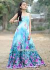 Dress Plus Size Maxi Blue Floral Bridesmaid Evening Extra Long New 1X 2X 3X 4X