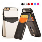 Magnetic Leather Cards Pocket Stand Wallet Case Phone Cover for iPhone 6s 7 Plus