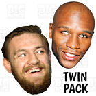 Conor McGregor + Floyd Mayweather Card Face Mask Life-size or BIG A3 TWIN PACK