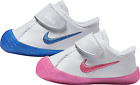 Nike Baby Infants 705372 Waffle 1 Crib Booties Shoes Blue Pink