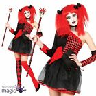 Adults Ladies Harlequin Queen Jester Halloween Horror Fancy Dress Costume Outfit