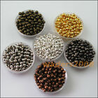 15 New Gold Silver Bronze Black Plated Round Ball Metal Spacer Beads Charms 10mm