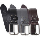 Crosshatch Mens Bowline Designer Fashion Embossed PU Leather Metal Buckle Belt