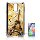 Silver Samsung S5 Case Cover A10055 Paris Eiffel Tower