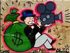 Alec Monopoly Bansky oil Painting on Canvas graffiti art wall decor Money Movie