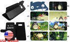My Neighbor Totoro Galaxy J7 S7 S8 S9 Note8 Leather Wallet Flip Stand Phone Case