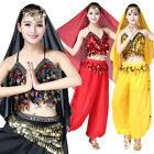 Belly Dance Costume Set Suit Chiffon Indian Oriental Halloween Bollywood Outfits