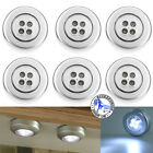 Upto 10x 3 LED Touch Push On/Off Light Self-Stick On Click Battery Button Lights