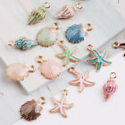 Lot Mix Starfish Conch Shell Metal Charm Pendant DIY Necklace Jewelry Making