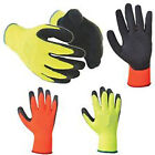 Hymac Hi Visibility Thermal Grip Safety Work Gloves, Various Packs, HYM041