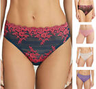 Wacoal Embrace Lace 841291 Hi Cut Lace Solid Back Brief Knickers S-2XL (10-18)