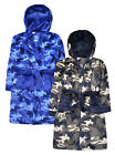Boys Camo Dressing Gown New Kids Dinosaur Camouflage Bathrobe Ages 7 - 13 Years