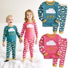 "Vaenait Baby Toddler Kids Boys Girls Clothes Pyjamas Set ""Thunder Set"" 12M-7T"