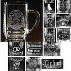 Personalized 20oz Glass Beer Mugs Tankards Custom Groomsman Wedding Party Gifts