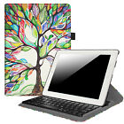360 Degree Rotating Bluetooth Keyboard Leather Case Stand Cover For iPad 2/3/4